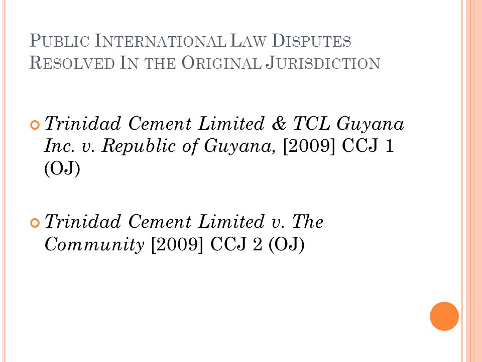 Trinidad Cement Limited v. The Community [2009] CCJ 2 (OJ)
